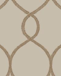 Laurel Leaf Ogee Wallpaper Brown by