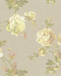 Whitworth Peony Wallpaper Beiges Greens by