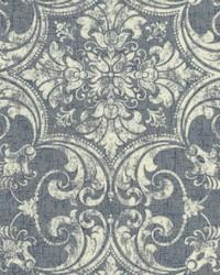 Regency Wallpaper Blues White Off Whites by