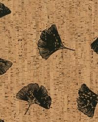 Gingko Wallpaper Browns Blacks by