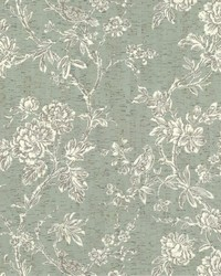 Equinox Wallpaper Greens White Off Whites by