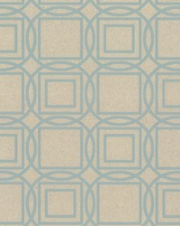 Labyrinth Wallpaper Blues by