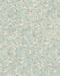 Floral Sprig Wallpaper  Blues by
