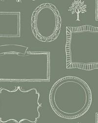 Chalkboard Frames Wallpaper  Greens by