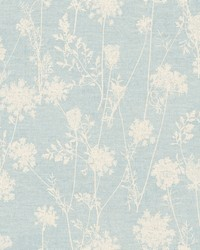 Queen Annes Lace Wallpaper  Blues by