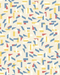 Tumble Wallpaper Blues Reds Yellows by