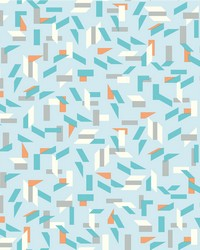 Tumble Wallpaper Blues Oranges White Off Whites by