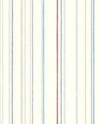Steno Wallpaper Blues Reds Blacks by