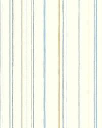Steno Wallpaper Blues Yellows Blacks by