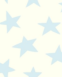 Starlight Wallpaper Blues White Off Whites by