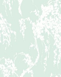 Willow Tree Wallpaper Greens White Off Whites by