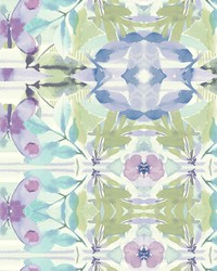 Synchronized Wallpaper Purples Greens Blues by