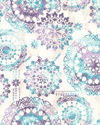 Bohemian Wallpaper Purples Blues Beiges by