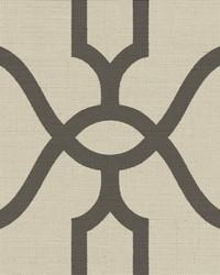 Woven Trellis  Charcoal on Khaki by