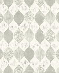 Woodblock Print  Garden Trowel (Grey) by