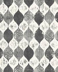 Woodblock Print  Black White by