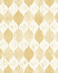 Woodblock Print  Yellow by
