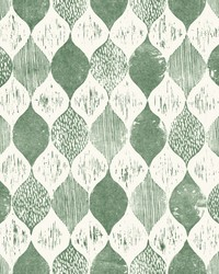 Woodblock Print  Forest Green by