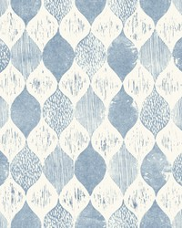 Woodblock Print  True Blue by