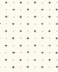Cross Stitch Wallpaper Black by