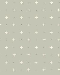 Cross Stitch Wallpaper Grey by