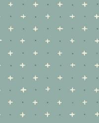 Cross Stitch Wallpaper Green by