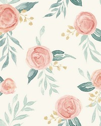 Watercolor Roses Wallpaper Red by