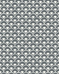 Stacked Scallops Wallpaper Grey by