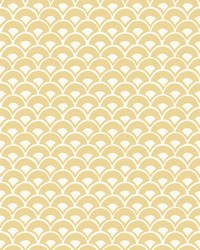Stacked Scallops Wallpaper Yellow by