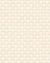 Stacked Scallops Wallpaper Pink by