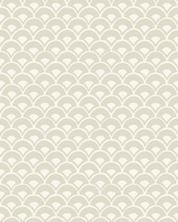 Stacked Scallops Wallpaper Beige by