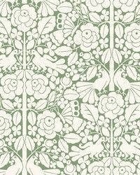 Fairy Tales Wallpaper Green by