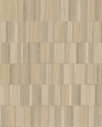Gilded Wood Tile Wallpaper Taupe Blonde Wood by