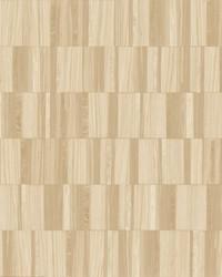 Gilded Wood Tile Wallpaper Blonde Wood by
