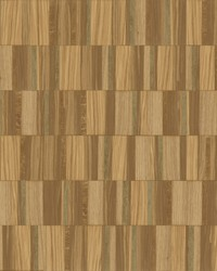 Gilded Wood Tile Wallpaper Copper by