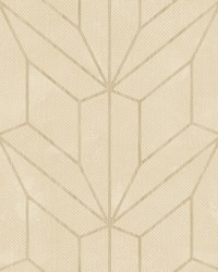 Hammered Diamond Inlay Wallpaper Beige by