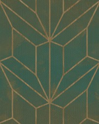 Hammered Diamond Inlay Wallpaper Forest Green Wood by