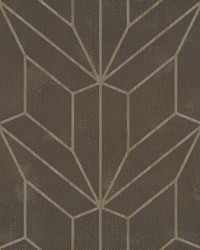 Hammered Diamond Inlay Wallpaper Chocolate Wood by
