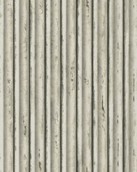 Weathered Metal Wallpaper Snow Grey by