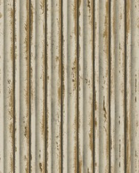 Weathered Metal Wallpaper Cream Gold by