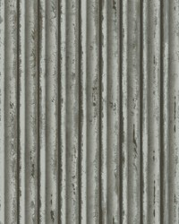 Weathered Metal Wallpaper Grey Silver by