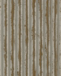 Weathered Metal Wallpaper Taupe Gold by