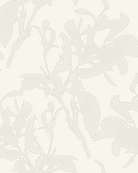 Botanical Silhouette Wallpaper White by