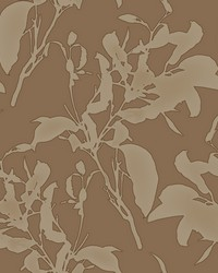 Botanical Silhouette Wallpaper Copper by