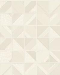 Patchwork Tile Wallpaper Beige by