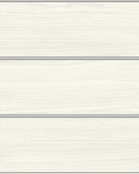 Cerused Woodgrain Wallpaper White Silver by