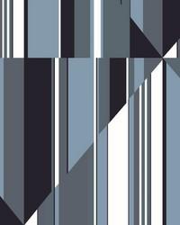 Pinwheel Stripe Mural Blue by