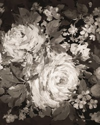 Impressionist Floral Mural Gray Neutral by