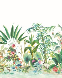 Tropical Panoramic Mural White by