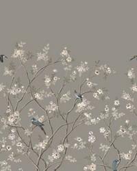 Lingering Garden Mural Gray by